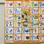 「ディズニー英語システム(DWE)」の無料サンプルDVDでプレゼントされた「お風呂でABCポスター」