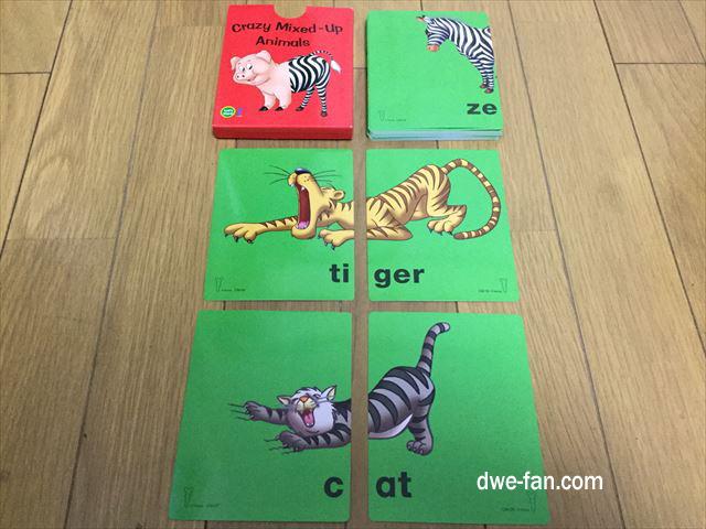 DWEゲームカード「Crazy Mixed-up Animals」虎と猫