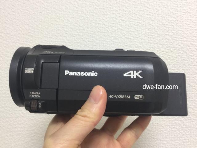 Panasonicの4Kビデオカメラ「HC-VX985N」