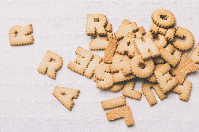 アルファベットのクッキー