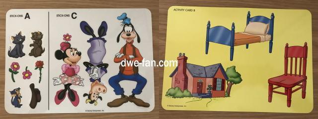 ディズニー英語システム(DWE)アクティビティカードとステッカー