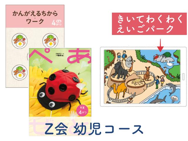 「Z会幼児コース」と「きいてわくわくえいごパーク」